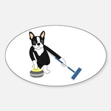Boston Terrier Olympic Curling Decal