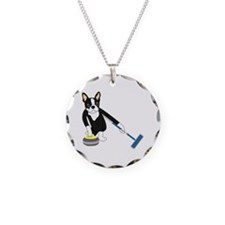 Boston Terrier Curling Necklace