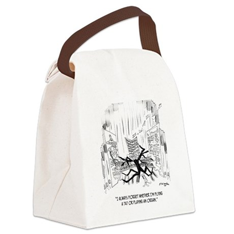 Playing an Organ or Flying a 747? Canvas Lunch Bag