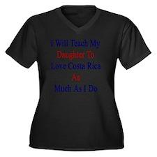 I Will Teach Women's Plus Size V-Neck Dark T-Shirt