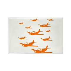Airplanes Rectangle Magnet (100 pack)