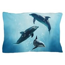 Dolphins in the Sea Pillow Case