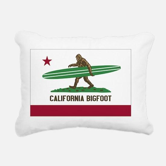 California Bigfoot Rectangular Canvas Pillow