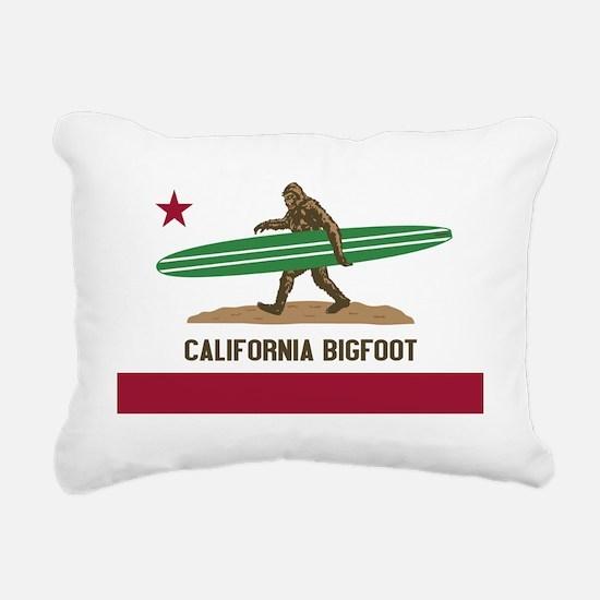 California Bigfoot... Rectangular Canvas Pillow