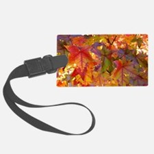 Autumn Leaves 97M Red Colorful F Luggage Tag