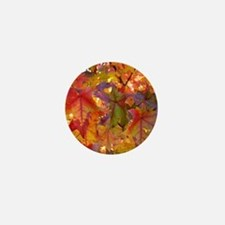 Autumn Leaves 97M Red Colorful Fall Tr Mini Button