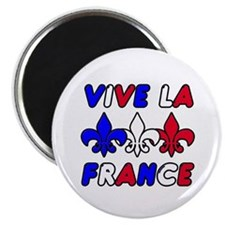 "Vive La France 2.25"" Magnet (10 pack)"