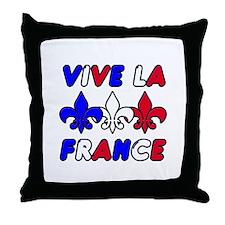 Vive La France Throw Pillow