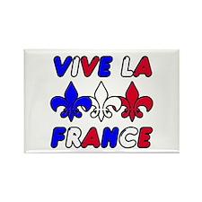 Vive La France Rectangle Magnet (100 pack)