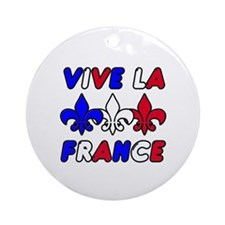 Vive La France Ornament (Round)