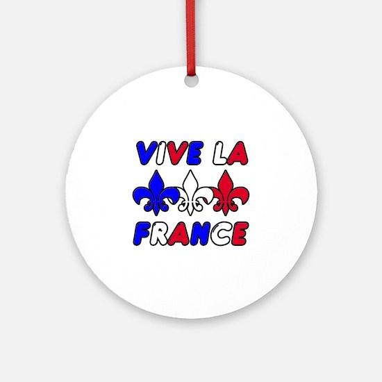 Vive La France Ornament (Round)