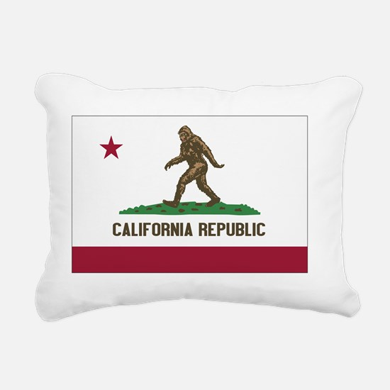 California Republic Bigf Rectangular Canvas Pillow