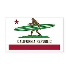 California Republic Bigfoot Rectangle Car Magnet