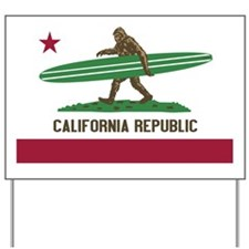 California Republic Bigfoot Yard Sign