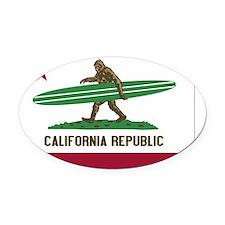 California Republic Bigfoot Oval Car Magnet