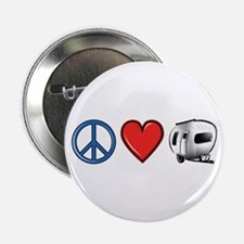 """Peace Love & Camping 2.25"""" Button"""