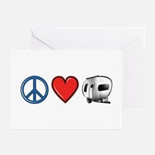 Peace Love & Camping Greeting Cards (Pk of 10)