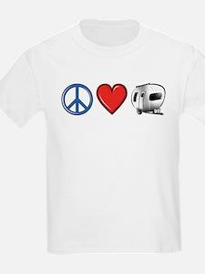 Peace Love & Camping T-Shirt
