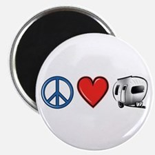 Peace Love & Camping Magnet