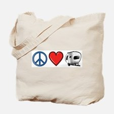 Peace Love & Camping Tote Bag