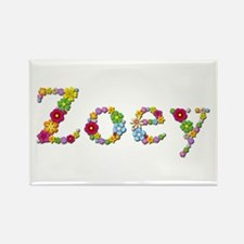 Zoey Bright Flowers Rectangle Magnet