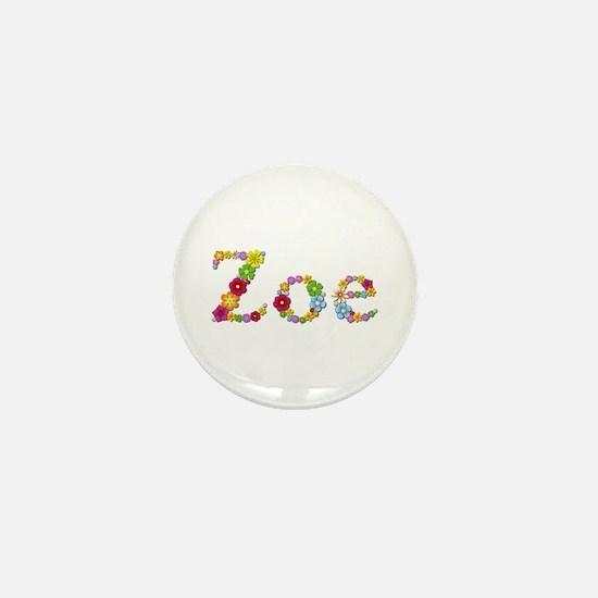 Zoe Bright Flowers Mini Button