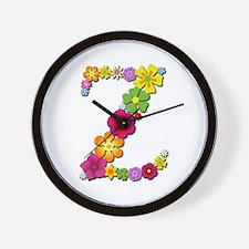 Z Bright Flowers Wall Clock
