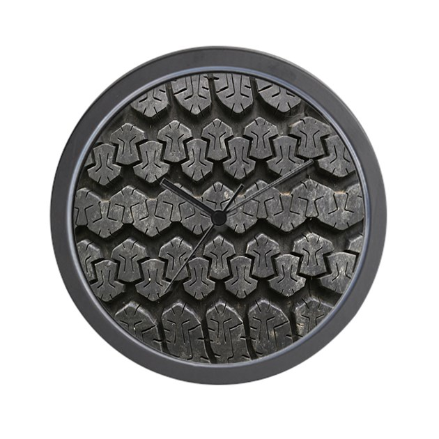 Tire Tracks Wall Clock By Admin CP4132