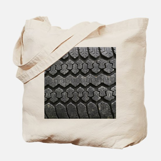 Tire Tracks Tote Bag