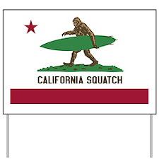 California Squatch Yard Sign