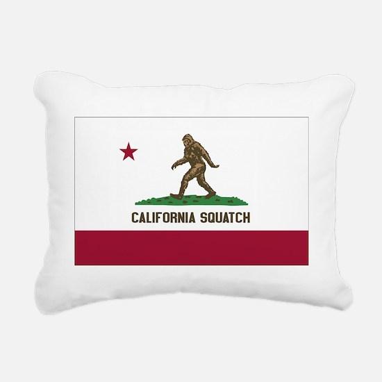 California Squatch Rectangular Canvas Pillow