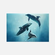 Dolphins in the Sea Rectangle Magnet