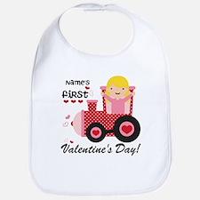 First Valentine's Day Bib