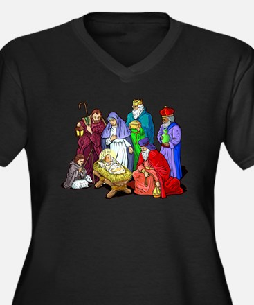 Christmas_nativity_scene.png Plus Size T-Shirt
