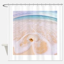 Seashell Ocean View Cayman Islands Shower Curtain
