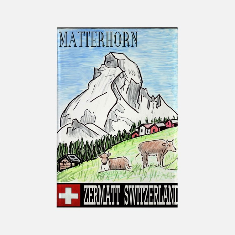 The Matterhorn Shop Rectangle Magnet