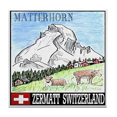 The Matterhorn Shop Tile Coaster