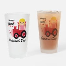 First Valentines Day Drinking Glass