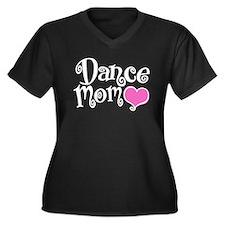 Dance Mom Women's Plus Size V-Neck Dark T-Shirt