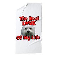 RealLoveOfMyLife Maltese Beach Towel