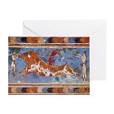 Taureau Cavaliers à Knossos Greeting Card