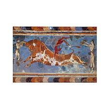 Taureau Cavaliers à Knossos Rectangle Magnet