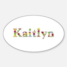 Kaitlyn Bright Flowers Oval Decal