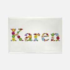 Karen Bright Flowers Rectangle Magnet