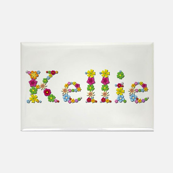 Kellie Bright Flowers Rectangle Magnet