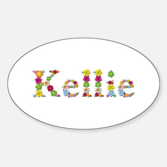 Kellie Bright Flowers Oval Decal
