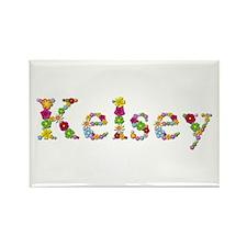 Kelsey Bright Flowers Rectangle Magnet