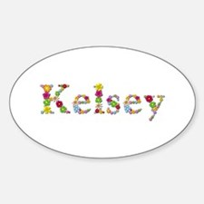 Kelsey Bright Flowers Oval Decal