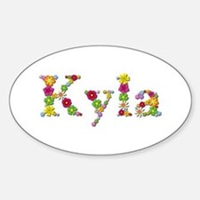 Kyla Bright Flowers Oval Decal