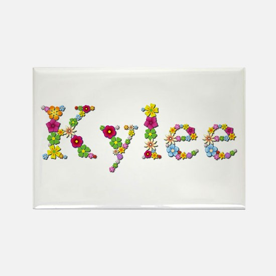 Kylee Bright Flowers Rectangle Magnet